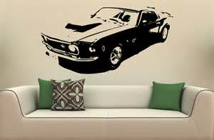 wall mural decal sticker car ford mustang 1969 s 2017