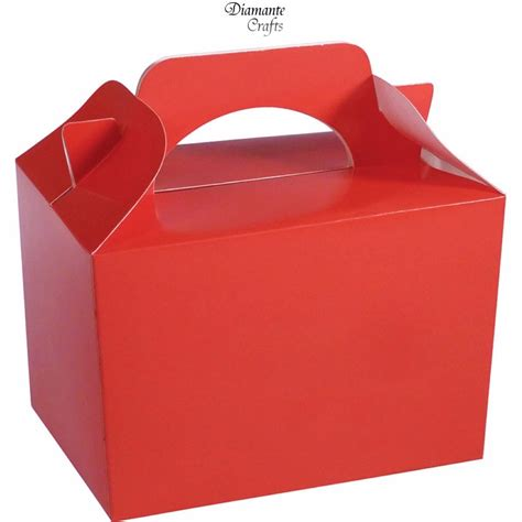 treat box 10 boxes solid colour plain cardboard lunch food