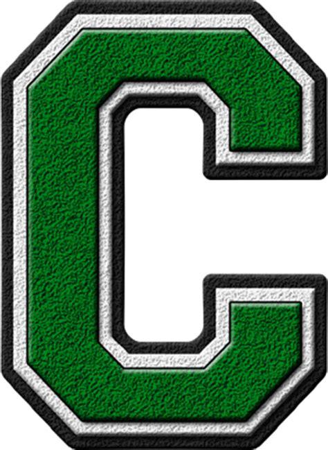 G U C C I presentation alphabets green varsity letter c