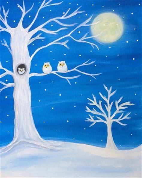 paint nite stl owls in a tree paint nite paintings trees
