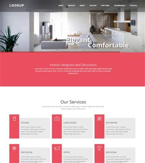 bootstrap templates for web design company best interior design website templates free download