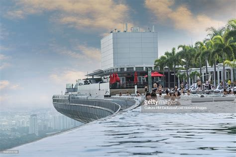 buy a boat singapore infinity pool at marina bay sands hotel singapore stock