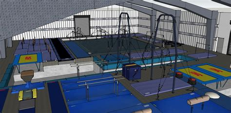 gymnastics gym layout 3d gym design