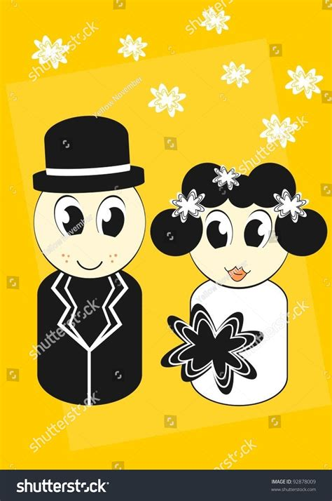 Wedding Invitations Characters by Wedding Invitation With And Groom Characters
