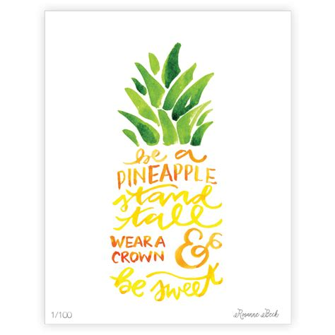 Kitchen Herb by Be A Pineapple Stand Tall Art Print