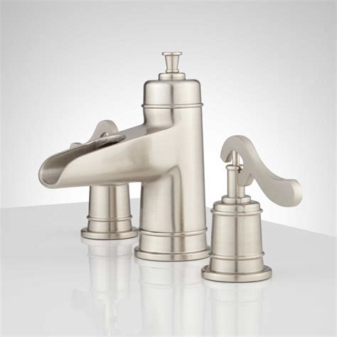 Bathroom Fixtures Melton Widespread Waterfall Bathroom Faucet Bathroom