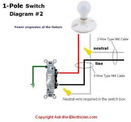 wiring diagram how to wire single pole switch wiring