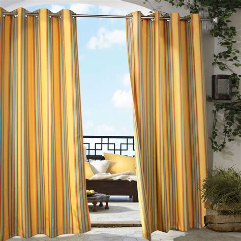outdoor drapes pretty indoor outdoor curtains homesfeed