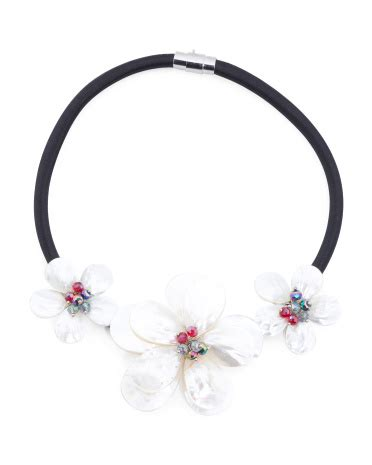 Pearl Flower Collar Necklace 68527617585608 of pearl flower collar necklace necklaces t j maxx