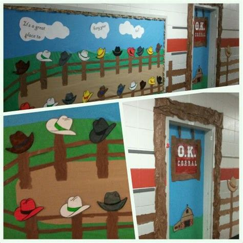 Cowboy Door Decorations by Best 25 Western Bulletin Boards Ideas On