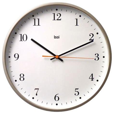 wall clock bai jumbo wall clock bodoni titanium contemporary wall clocks by