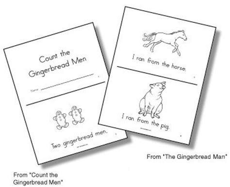 gingerbread man printable emergent reader emergent readers gingerbread man unit