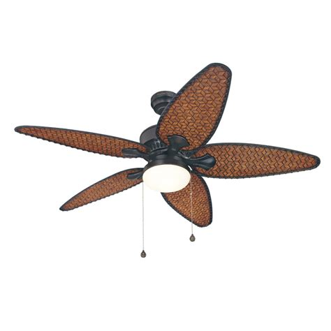 Outside Ceiling Fans With Lights Shop Harbor 52 In Southlake Aged Bronze Outdoor Ceiling Fan With Light Kit At Lowes