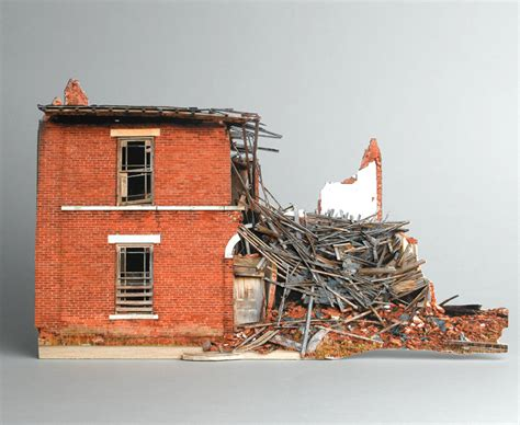 miniature paper sculptures of abandoned houses flavorwire