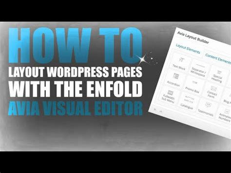 wordpress avia layout how to layout wordpress pages with the enfold avia visual