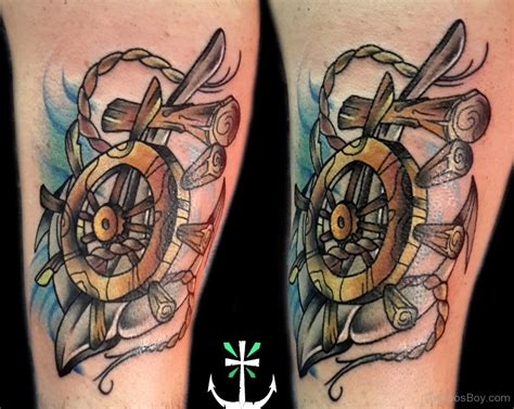 ship wheel tattoo design wheel tattoos designs pictures