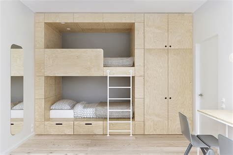 Japanese Bunk Bed Minimalist Apartment For A Family Of Four