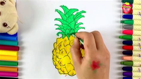 pineapple color coloring pineapple for how to color pineapple