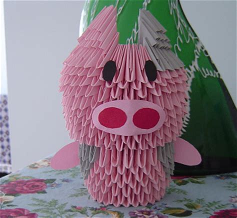 origami 3d pig tutorial 3d origami pig 28 images origami piglet 171 embroidery