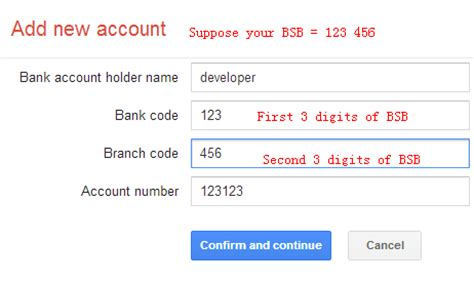 bsb bank account tech footprint add new bank account to wallet