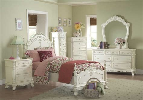 girls vintage bedroom furniture homelegance cinderella bedroom collection ecru b1386 at