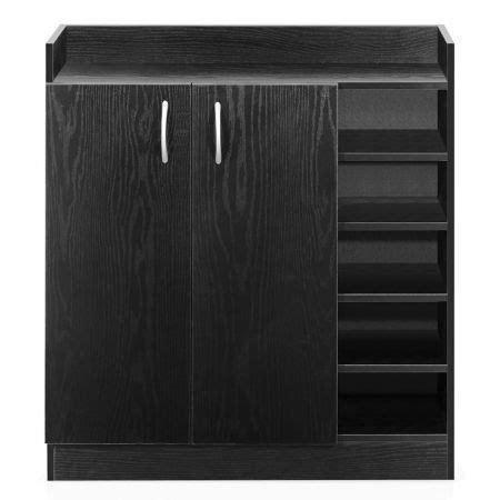 Black Shoe Cabinet With Doors 2 Doors Shoe Cabinet Storage Cupboard Black Sales