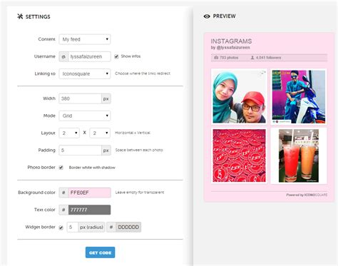 javascript widget pattern tutorial cara letak widget instagram di blog lyssa