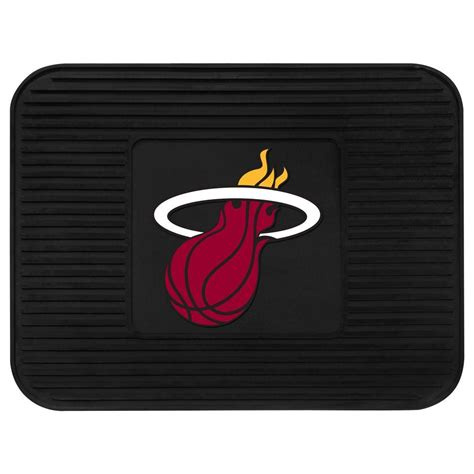 fanmats miami heat 14 in x 17 in utility mat 10015 the