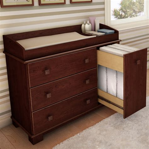 Change Tables With Drawers Cherry Dresser Changing Table Bestdressers 2017