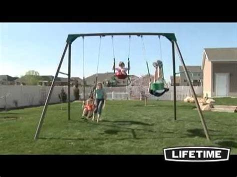 lifetime swings lifetime basic swing set youtube