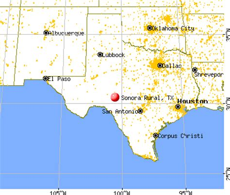 where is sonora texas on the map sonora rural texas tx 76950 profile population maps real estate averages homes