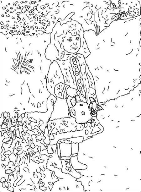 renoir coloring pages france kids crafts pinterest
