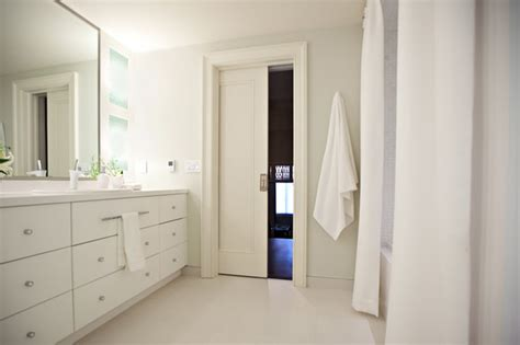 pocket doors modern bathroom toronto by k n crowder - Bathroom Pocket Doors
