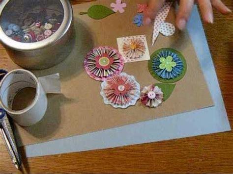 tutorial de scrapbook en español scrapbooking en espa 241 ol tutorial flores de papel de