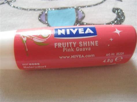 Lip Balm Pink Shineskin nivea fruity shine pink guava lip balm review