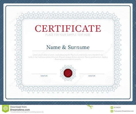 certificate layout design template certificate template layout background frame design vector