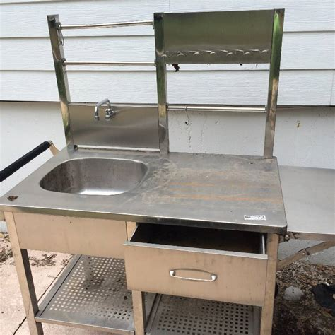 stainless steel outdoor sink outdoor stainless steel portable sink mega mid summer