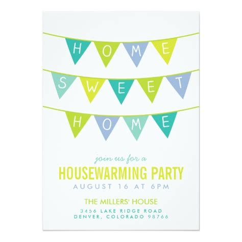 Mother S Day Card Ideas by Cute Bunting And Stripes Housewarming Party Invitation Card