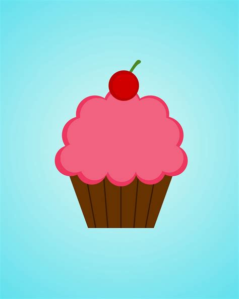 Printable Cupcake Images | whimsikel printables including my cupcake printable