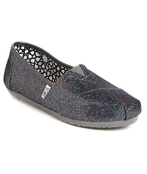 toms glitter shoes for toms classics multi glitter womens shoes at zumiez pdp