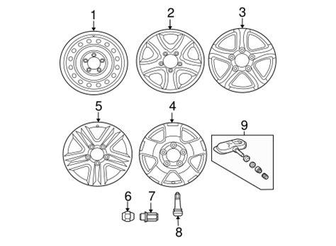 Stem 25 4 Standar Alloy Limited genuine oem wheels parts for 2010 toyota tundra sr5