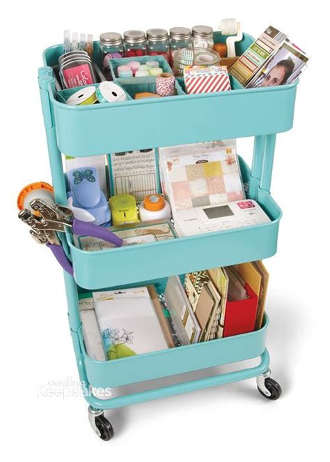 ikea craft cart ikea cart craft room pinterest