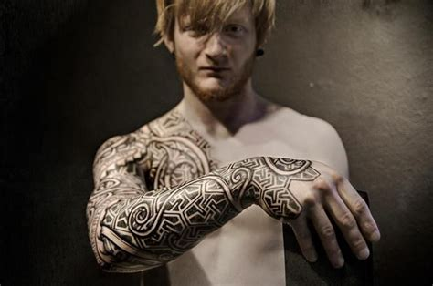 nordic tribal tattoos gallery viking tribal sleeve tattoos