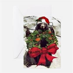 black bear christmas greeting cards card ideas sayings