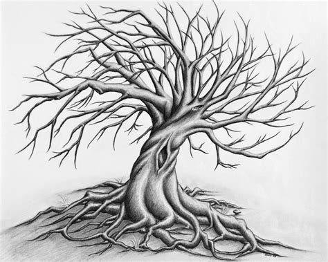 twisted tree tattoo designs scary trees drawings search a r t