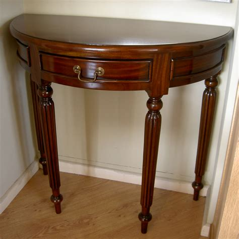 small half moon console table with drawer sofa table design half moon sofa table wonderful