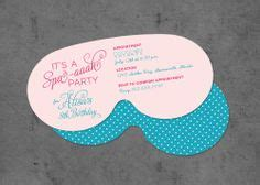 spa mask invitation template lyci s spa on 34 pins