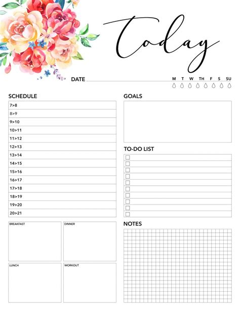 Galerry printable planner august 2018