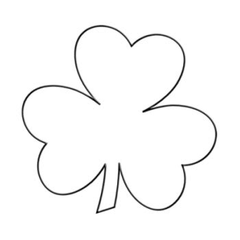 shamrock printable template clover template clipart best