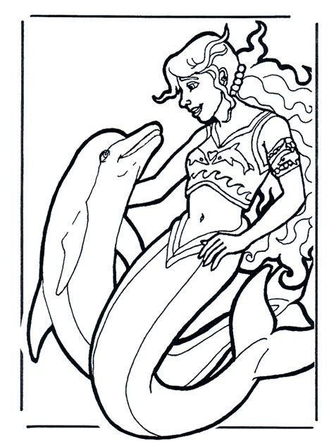 coloring pages dolphins water animals